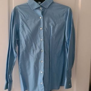 Lands End Long Sleeve Button Up Collared Shirt